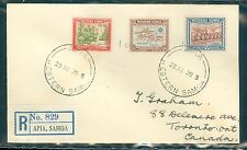 Western Samoa Registered cover Apia to Toronto 1939 via California?