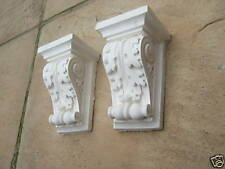 Plaster scroll corbels x2   ( pair )    price To clear     free P/P