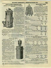 1932 PAPER AD Oxweld Acetylene Generator Harris Red Head Car Auto Lift Rotary