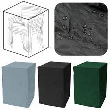 Gartenstuhl Abdeckung Wetterfest Abdeckplane für Gartenmöbel Stühle Stapelstühle