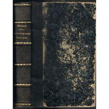 LITTÉRATURE GRECQUE & LATINE Abbé BLANLOEIL Ex-libris Roger de BARBERAC Nant 12