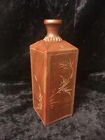 Antique Chinese Yixing Yisha Pottery Square Bottle 宜興紫砂