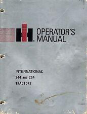 International 244 254 Compact Tractor Operators Manual