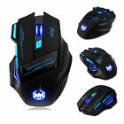 Zelotes Computer Gaming Mouse 2400 DPI 7 Button USB LED Light Optical Wireless
