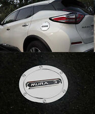 Fuel Oil Tank Gas Cap Cover Trim Decorate For 2015-2017 Nissan Murano ABS Black