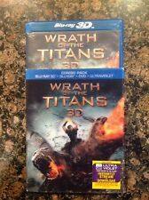 Wrath Of The Titans 3D(Blu Ray/DVD,2012,2-Disc+Digital) Authentic US Release