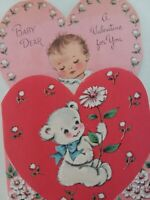 1950s Dear BABY A VALENTINE For You Vtg NORCROSS GREETING CARD