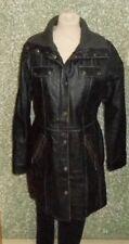 180 L55 GIPSY mujer piel abrigo talla L Negro Usado capa de las señoras