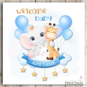 Personalised iNew Baby Boy Card Congratulations Parents It's a Boy Birth Welcome