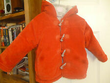 Beautiful orange-red velvet Girls Coat from Spanish Maker for 12-18 months