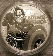1 oz .999 silver Captain America 1 dollar Tuvalu Coin Marvel Avengers Comics NEW