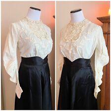 New listing Vintage Victorian Edwardian Blouse Irish Lace Ivory