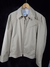 Men's London Fog Khaki Colored Zip Up Jacket Size 42 Long; Made in Korea