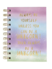 rainbow unicorn A6 Lined notebook, back to school office stationary  art gift
