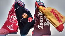 NEW candy socks lot of 4 pairs multicolor Tootsie roll, sugar - charms socks