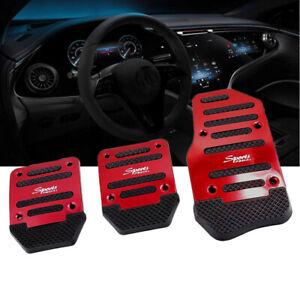 3* Manual Transmission Brake Foot Pedal Non-Slip Pad Cover Kit Car Accessories