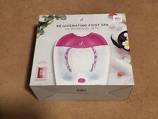 Rejuvenating Foot Spa Whirlpool Jets Rose Bath Salts Massage New