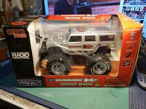 Nikko Hummer H2 Swing Back  Radio Control Remote Controlled Car silver