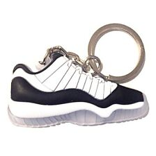 AIR JORDAN XI 11 LOW BLACK WHITE CONCORD SNEAKERS SHOES KEY CHAIN RING HOLDER
