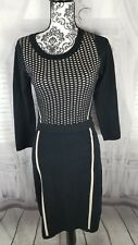 Limited dress black business party cocktail evening knit fall long sz small S
