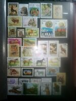 Tiere Animales Lot Briefmarken Stamps Sellos Timbres