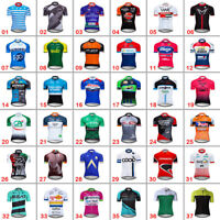 2021 Men Team Cycling Jersey Bike Jersey Short Sleeve Riding Race Shirt Maillots