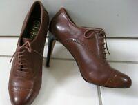 Cole Haan Brown Genuine Leather Stiletto Heel Women's Shoes sz 7B