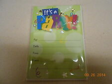 New Lot 8 Hallmark Party Invitations & Envelopes It'S A Party Kids & Adults Nwt
