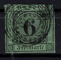 G128794 / GERMAN OLD STATES / BADEN / MI # 3 USED CV 130 $