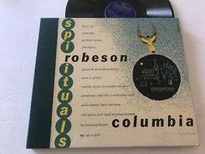 "Spirituals Paul Robeson 10"" Record Decca 78rpm Original 4 Columbia Gospel Soul"
