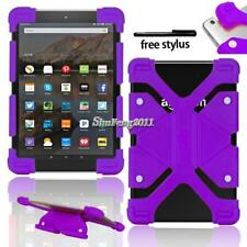 """Shockproof Silicone Stand Cover Case For 7"""" 8"""" Amazon Kindle Fire Tablet +Stylus"""