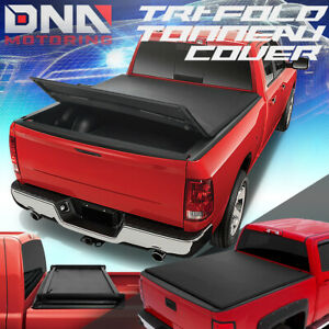 FOR 2005-2019 NISSAN FRONTIER 5' BED ADJUSTABLE TRI-FOLD SOFT TOP TONNEAU COVER