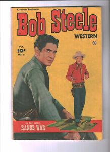 Bob Steele Western #6 Golden Age-Fawcett Publ. VG+  {Generations}