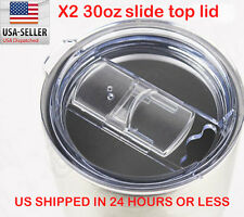YETI RAMBLER 30oz  Slide Top Lid 2 pcs. For RTIC YETI OZARK Rambler 30 Oz