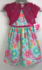 Youngland Girls Dress Pink Floral Size 6X Sleeveless NWT