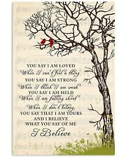 Art Lauren Daigle You Say I Believe What You Say Wall Decor Poster [No Framed]