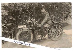 Top Foto Ak Motorrad Fahrer Ardie-500 CC Wimpel um 1930 ! (F2632