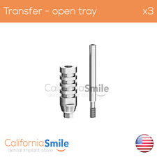 3x Transfer Impression Coping Open Tray for Dental Implant internal hex