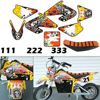 Burly Effects Graphics kit for Razor MX500 & MX650 dirt bike Stickers Seat Cover