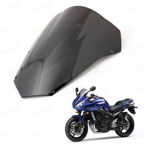 Black Double Bubble Windscreen Windshield Shield for Yamaha FZ6 2003-2008 04 05