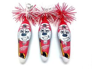NHL Detroit Red Wings Kooky Klicker Kollectible Pen Clip Series 2 Key Hockey 3Pk