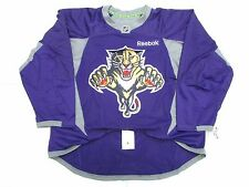 FLORIDA PANTHERS AUTHENTIC PURPLE REEBOK EDGE PRACTICE HOCKEY JERSEY SIZE 56