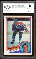 1984-85 O-Pee-Chee #243 Wayne Gretzky Card BGS BCCG 8 Excellent+