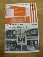 04/05/1968 Sunderland v West Bromwich Albion  (Creased, Small Nicks, Team Change