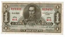 **RARE** Bolivia UN Boliviano 20-7-1928 UNC