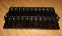 Vintage Unmarked 22 Slots Cast Iron Cornbread Stick Muffin Pan