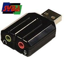 Syba USB Stereo Audio Adapter with C-Media Chipset