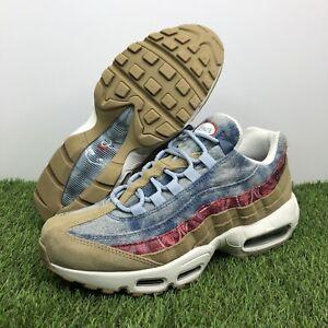 """Nike Air Max 95 """"WILD WEST"""" Parachute Beige/Red/Denim (BV6059-200) Men's Size 8"""