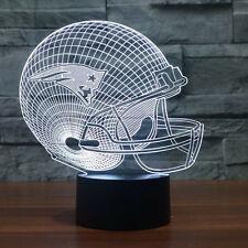 3D NFL New England Patriots Football 7 Color LED USB Night light Desk Lamp USPS