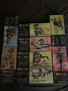 Lot of 8 New Sealed WEIRD-OHS Car-icky-tures MODEL KITS